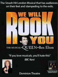 Ben Elton: Got the idea for We Will Rock You whilst on the toilet
